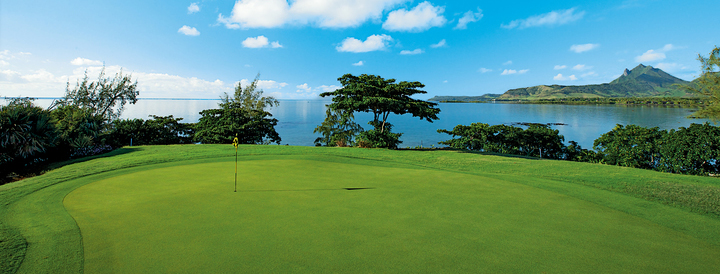 11th hole at ile aux cerfs golf club mauritius