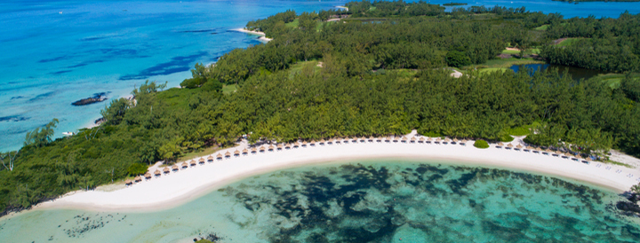 flibustiers private beach at ile aux cerfs golf club